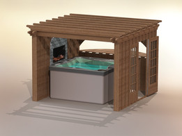 Jacuzzi and Enclosure