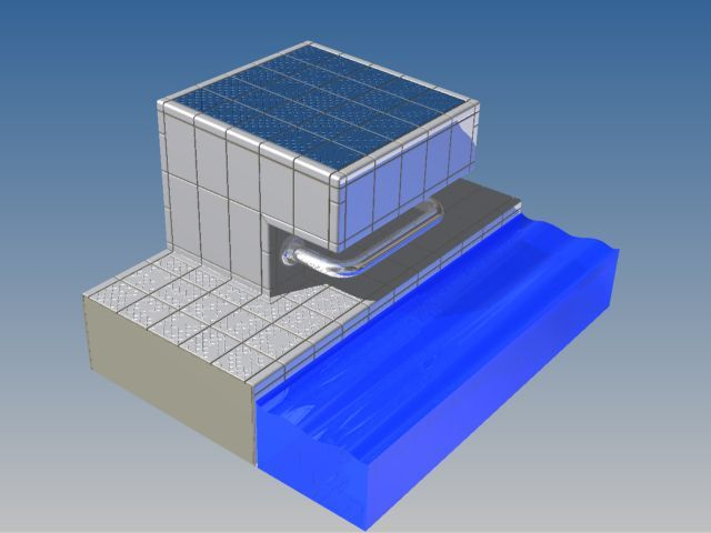Starting block - Swimming Pool | 3D CAD Model Library | GrabCAD