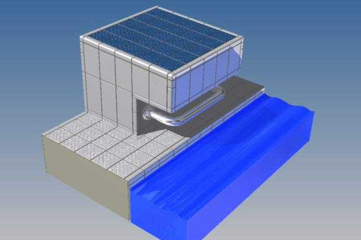 Starting Block Swimming Pool Step Iges 3d Cad