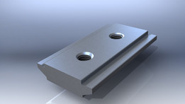 Aluminium extruded clamp
