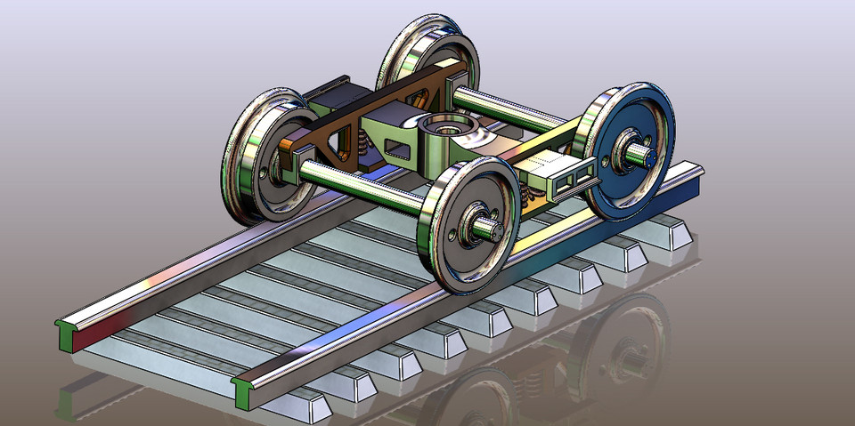 Railway wheel with railway track | 3D CAD Model Library | GrabCAD