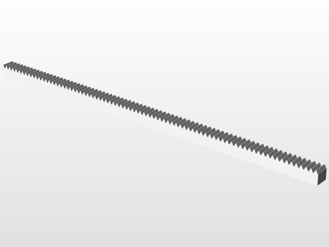Gear Rack Module 1   3D CAD Model Library   GrabCAD