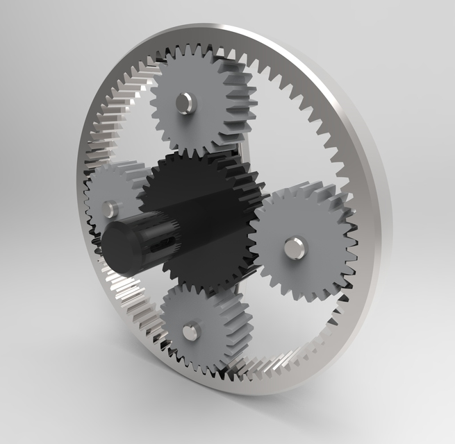 Planetary Gear Set >> Planetary gear | 3D CAD Model Library | GrabCAD