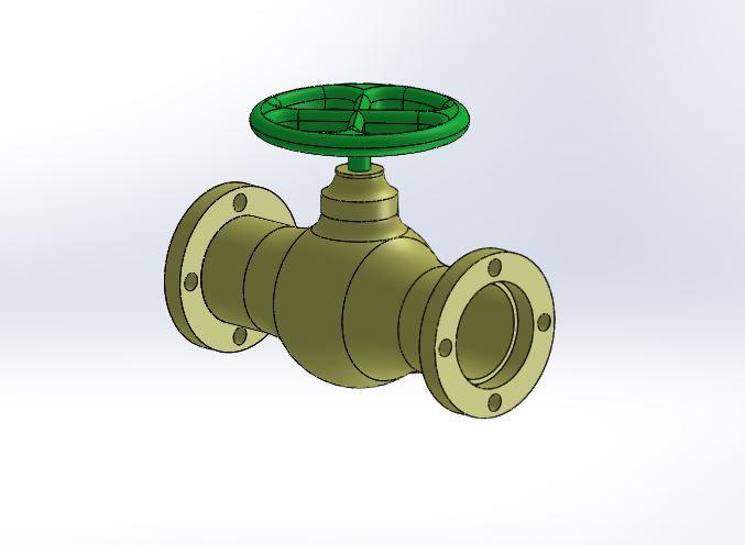 Vanne boisseau sph rique solidworks 3d cad model - Vanne a boisseau spherique ...