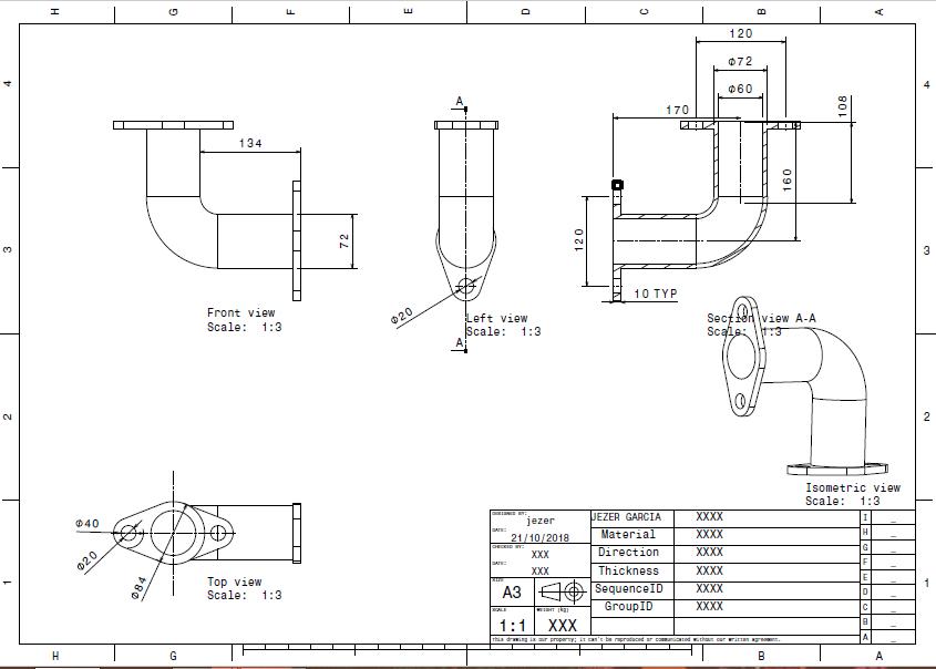 ELBOW PIPE DESIGN   3D CAD Model Library   GrabCAD