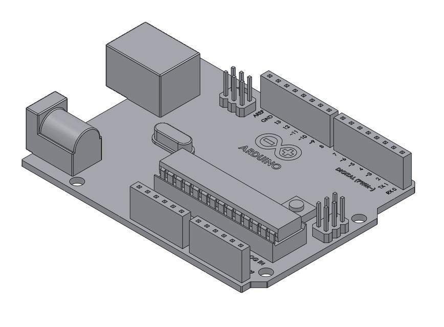 Arduino uno d cad model library grabcad