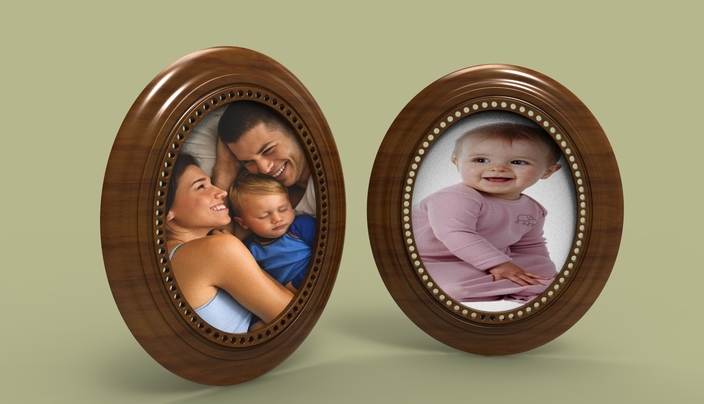 Photo Frame (oval Shape)