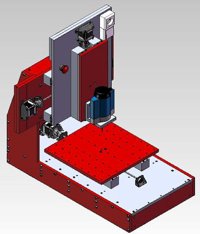 CNC homemade milling machine fraiseuse