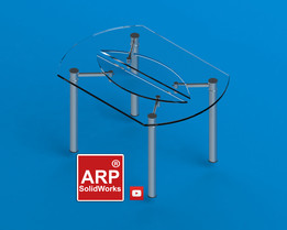 Round Table Tempered Glass and Chrome Extendable. Diameter 140cm high 80cm.