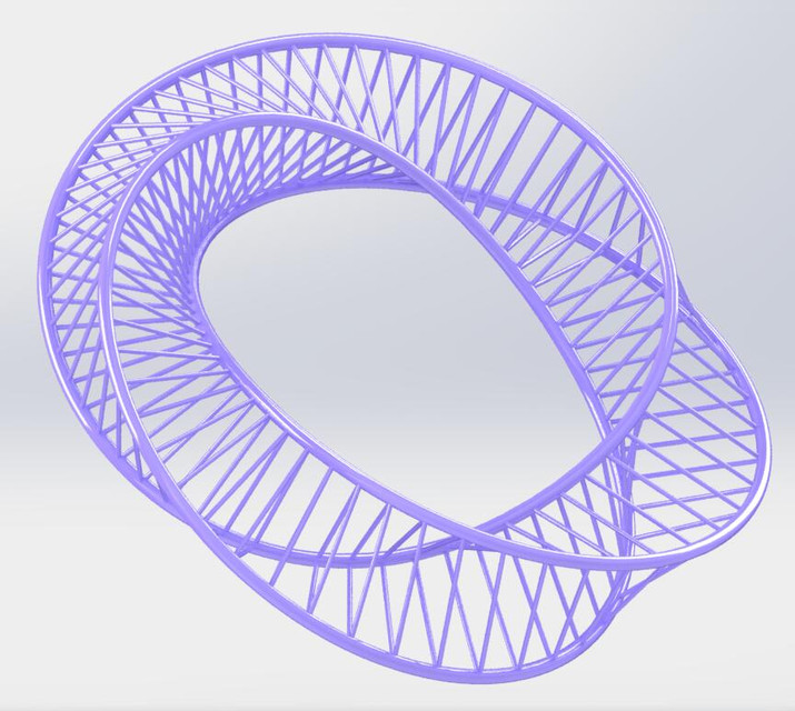 Mobius strip | 3D CAD Model Library | GrabCAD