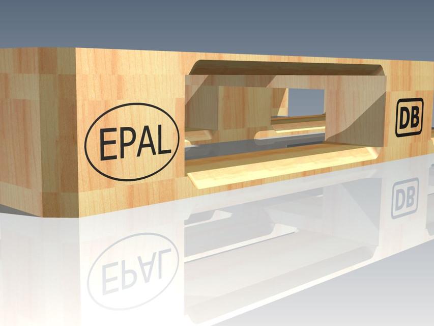 Europalette 3d Cad Model Library Grabcad