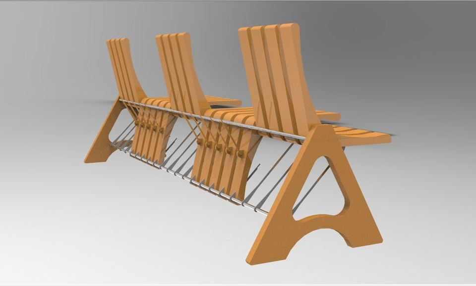 & ORTHO CHAIR | 3D CAD Model Library | GrabCAD