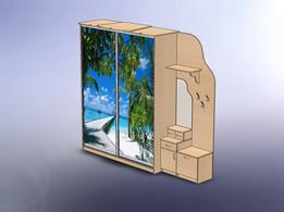 Шкаф-купе с фотопечатью по зеркалу