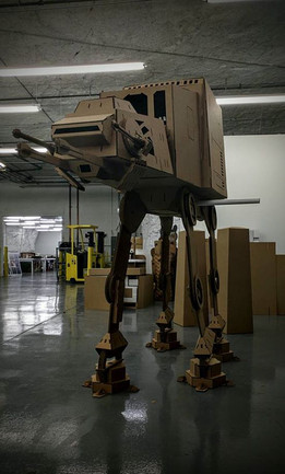 AT-AT, star wars, sheetmetal puzzle, 3d puzzle, metalcraftdesign