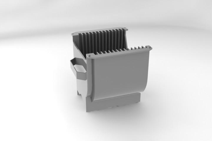 Semiconductor Wafer Cad : Semiconductor wafer cassette d cad model library grabcad