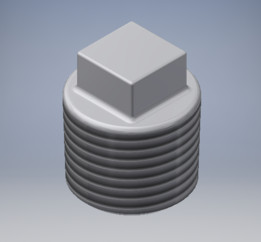 Plug PVC 1/2 NPT