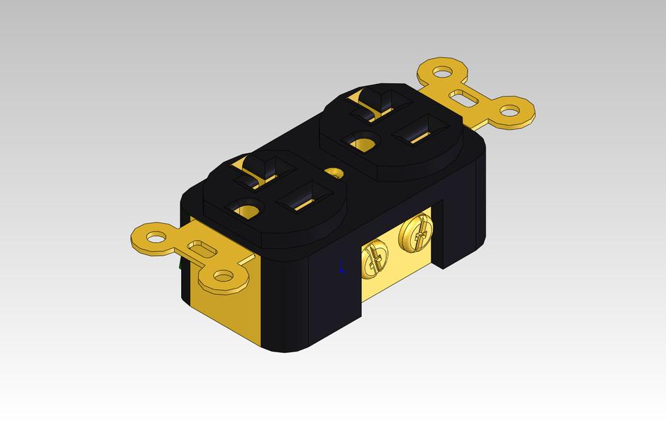 110 V Electric Outlet 3d Cad Model Library Grabcad
