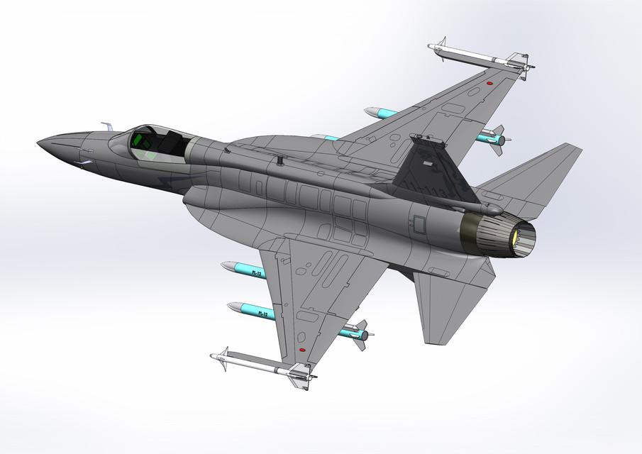 ChengDu JF-17(FC-1) Thunder Fighter | 3D CAD Model