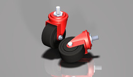 "caster wheel 3""  ( Threaded Stem )"