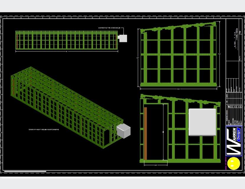 Pallet green house autocad step iges 3d cad model for Sessel 3d dwg