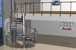 Staircase and railings for Audi auto sales centre. Photo of stair!