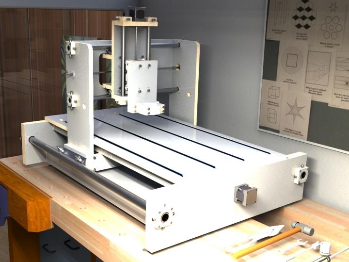 Cnc Wood Construction Stl Alibre Design 3d Cad Model
