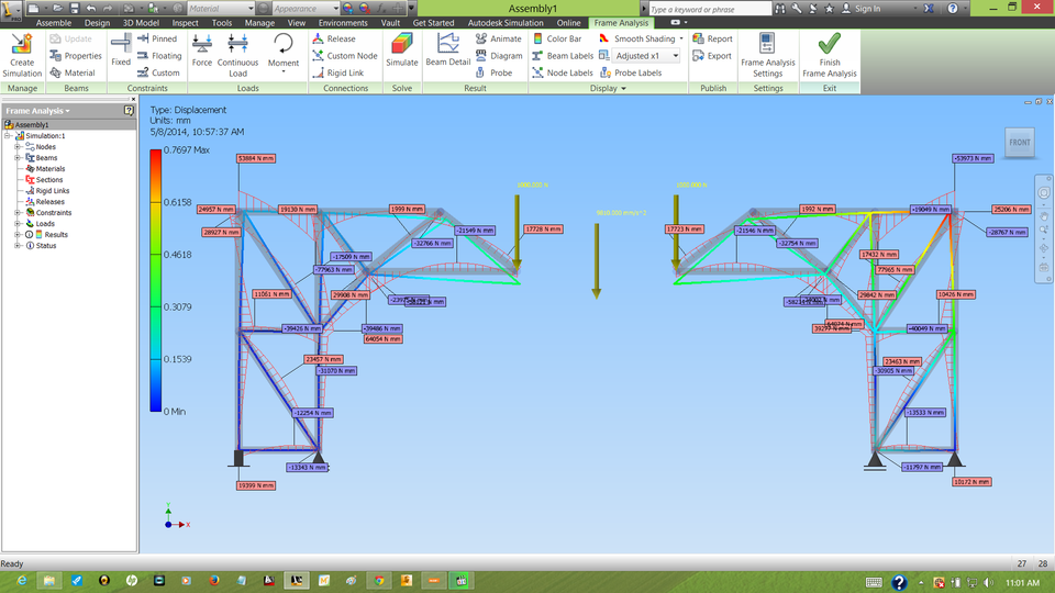 2D Frame Generator Analysis | 3D CAD Model Library | GrabCAD