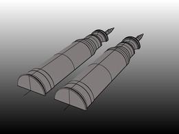 120mm SABOT Halves