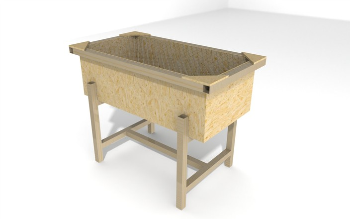 Chick brooder box