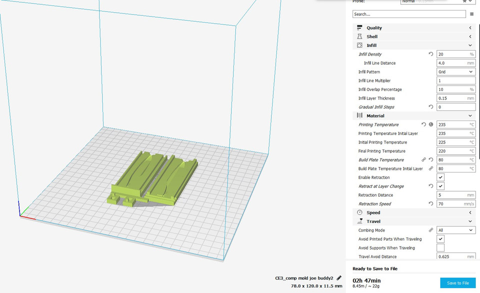 swimbait mold | 3D CAD Model Library | GrabCAD
