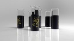 Japanese Steampunk Glass Set (Angry Japanese God Glass Set)