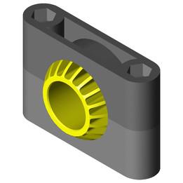 KSTM-GT45 Pillow block bearing with split housing
