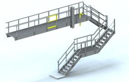 Stair, Platform, & Handrail Detailed Model