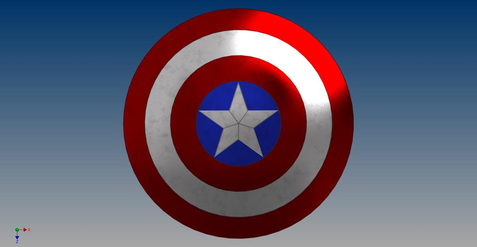 captain america s shield 3d cad model library grabcad shield 3d cad model library