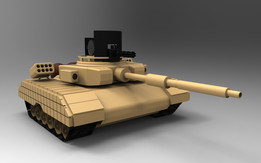 HEAVILY ARMED MILITARY TANK( concept model )