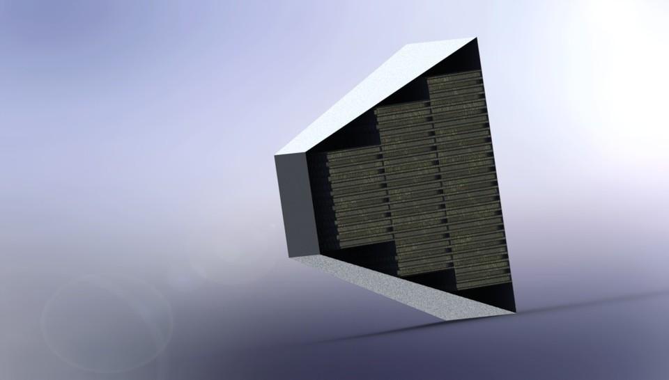 İmpact Attenuator (Honeycomb Crashbox) - SOLIDWORKS - 3D CAD model ...