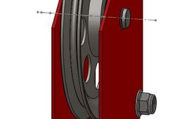 Crane pulley block
