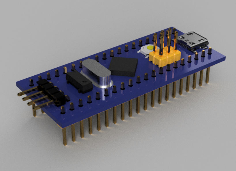 STM32F103C8T6 Blue Pill Board | 3D CAD Model Library | GrabCAD