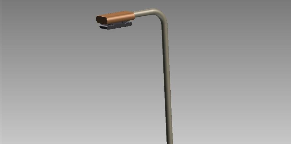 Lampu Jalan 3d Cad Model Library Grabcad