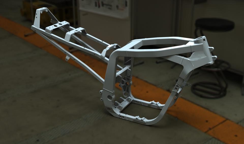 cadre 1100 gsxr 1990 frame | 3D CAD Model Library | GrabCAD