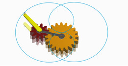 Gear mechanism with 2D trace