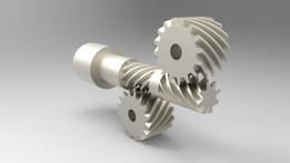 Crossed-axis helical gears