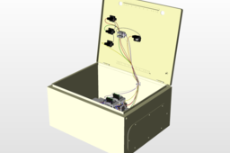 Electrical Cabinet with cable and components