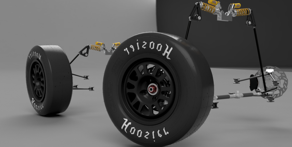 Formula SAE Front & Rear Suspension | 3D CAD Model Library