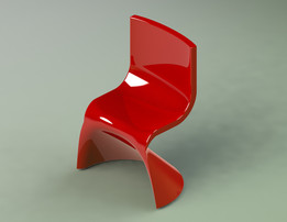 Chair in SolidWorks