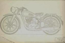 Blueprints-Old Russian Motorcycle IZ 350