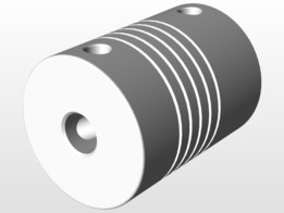 5mm to 8mm flexible shaft coupler