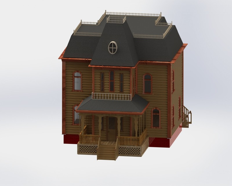 Bates motel house floor plan house design plans for Norman bates house floor plan