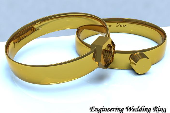 Wedding rings for engineers
