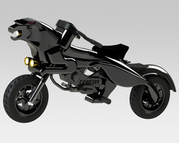 Concept of a bike in solidworks
